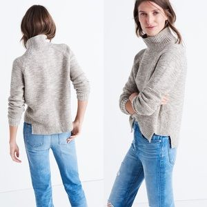 Madewell Raglan Turtleneck Sweater - Beige/Cream